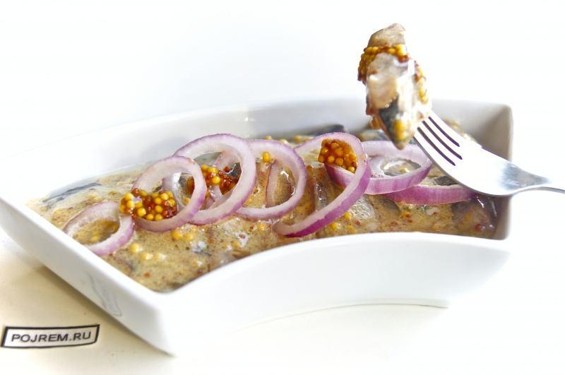 горчичный соус для селедки рецепт пошагово с фото