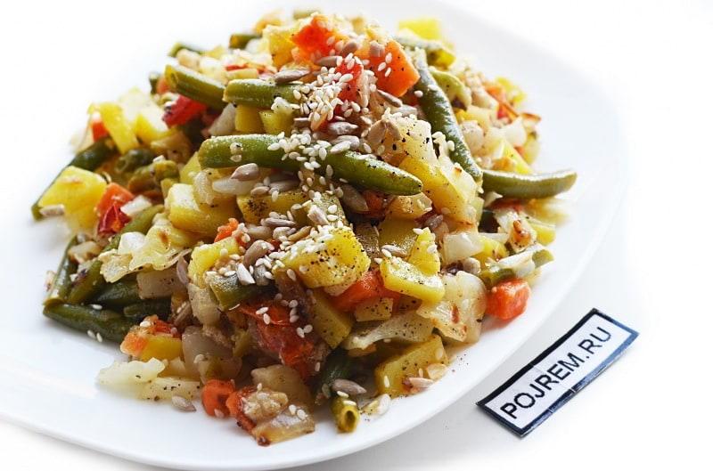 Рецепт овощного рагу с капустой