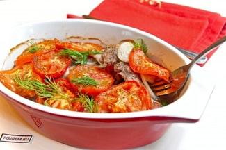 Свинина с помидорами в духовке