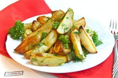 картофель с зеленью в духовке рецепты