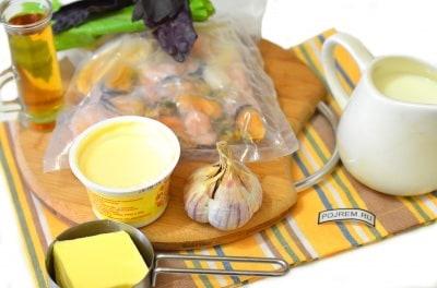 морепродукты в сливочном соусе пошаговый рецепт с фото