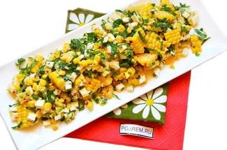 Салат из вареной кукурузы