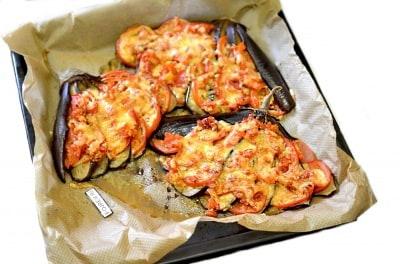 рецепт баклажанов веером в духовке с сыром