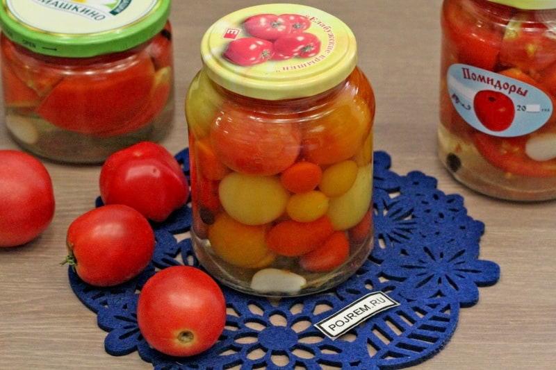 Рецепты зимнего салата из помидор