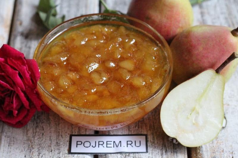 Варенье из переспелых груш рецепт