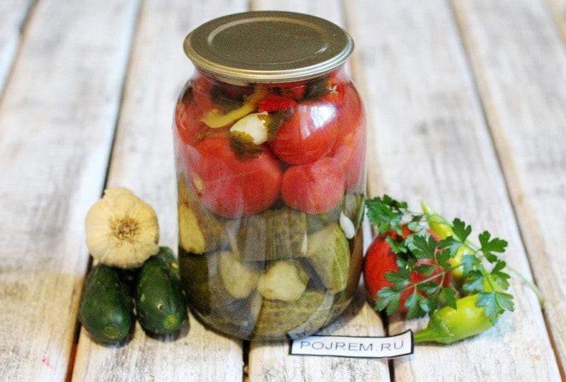 ассорти из огурцов и помидор