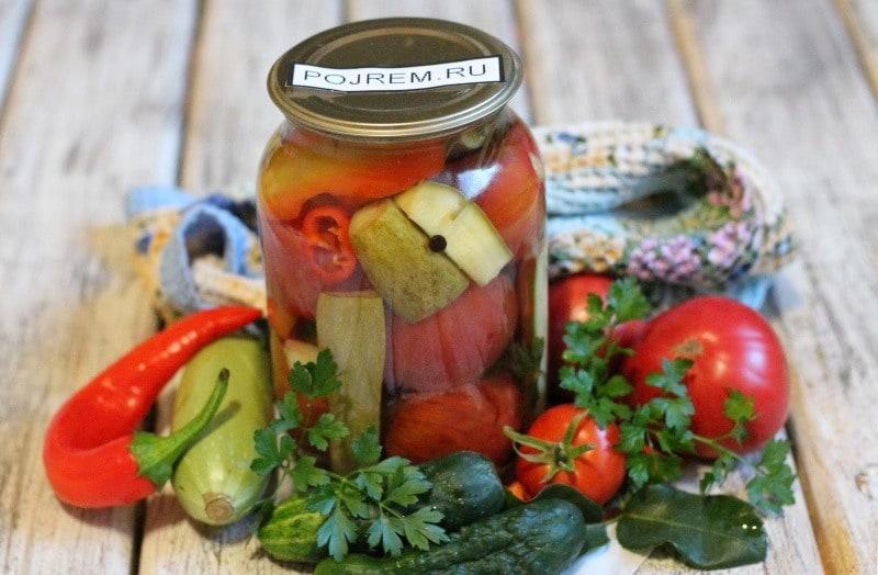 помидоры и огурцы на зиму