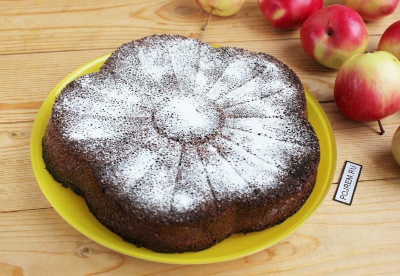 яблочный кекс с шоколадом