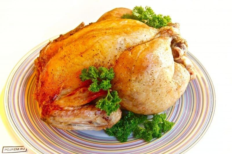 как приготовить курицу в духовке рецепт с солью