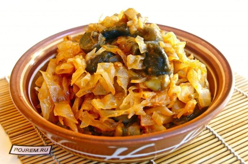 солянка с грибами и капустой рецепт на ужин