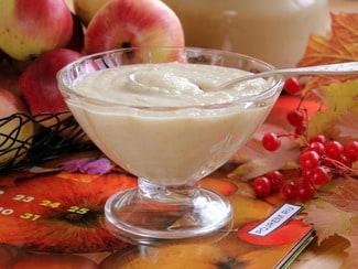 Яблочное пюре со сгущенкой «неженка»