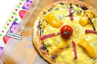 Пицца на лепешке