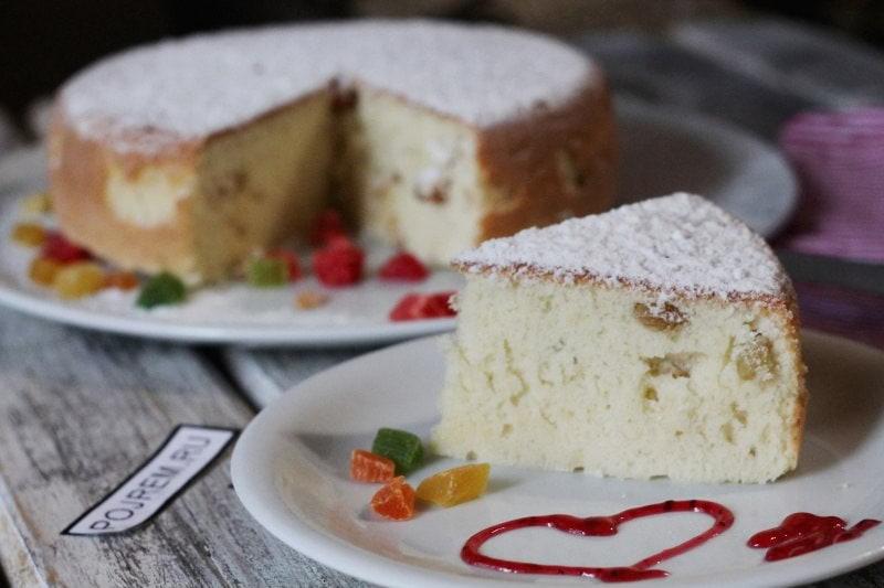 Рецепт кекса на сметане с изюмом 60
