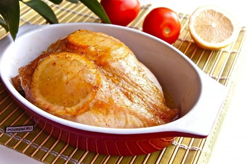 грудки в духовке с лимоном простой рецепт