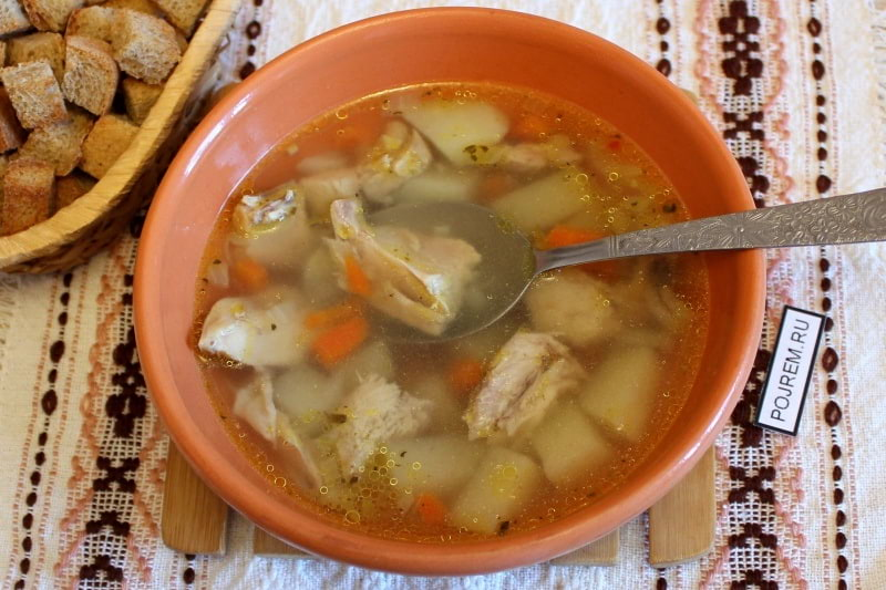 рецепт супа из грудки индейки