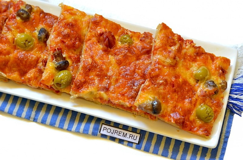 Пицца без дрожжей в домашних условиях в духовке рецепт