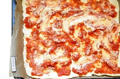 пицца со слоёного теста рецепт