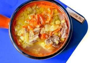 Гороховый суп с говядиной