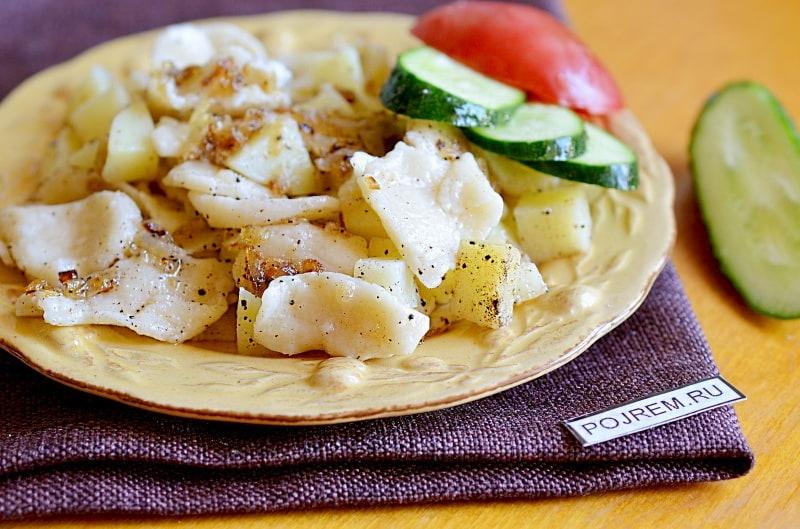 галушки с картошкой