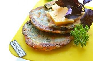 Лепёшки с зеленью и сыром