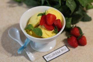 Ванильное мороженое в домашних условиях