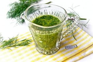 Соус из зелени