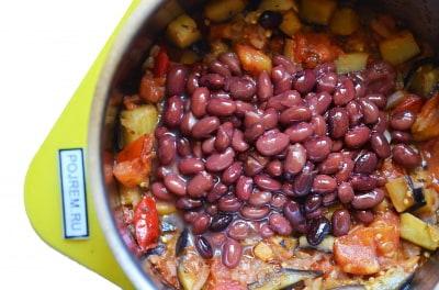 Тушенные овощи с рисом в мультиварке