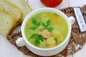 Суп с сосисками