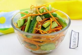 Огурцы с морковкой по-корейски