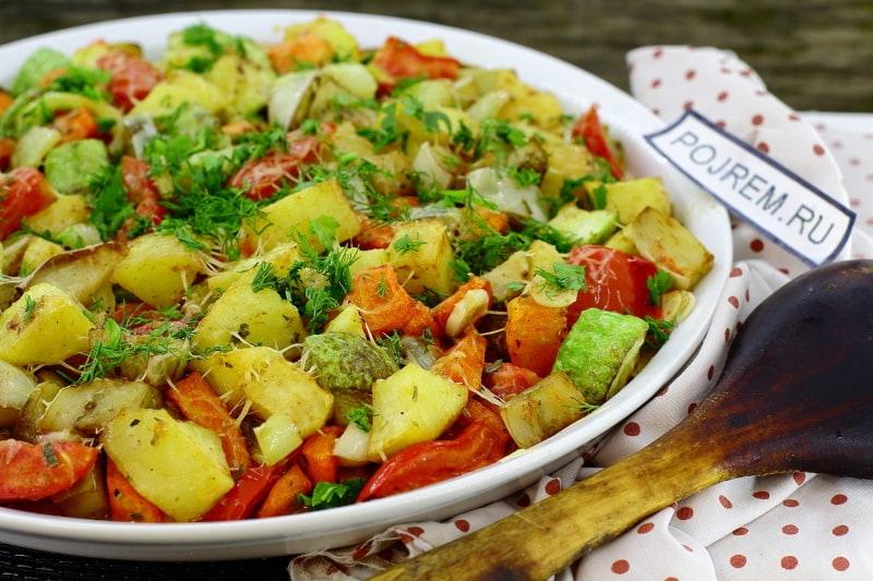 овощи запечённые