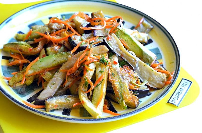 рецепты приготовления кабачков и баклажанов