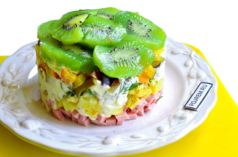 Рецепты салата с киви