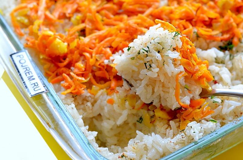 рис с кукурузой в духовке рецепт с фото