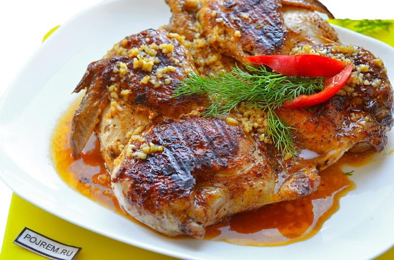 Цыпленок табака в духовке рецепт фото