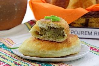 Жареные пирожки с картошкой и печёнкой