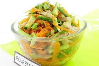 Салат с мясом и корейской морковью