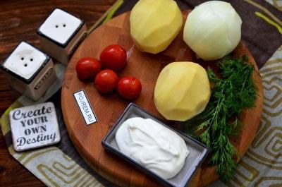 Рецепт Картофель со сметаной в духовке
