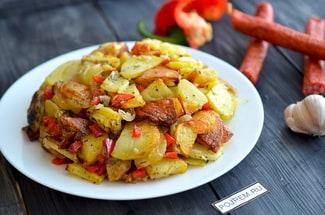 Картофель жареный с перцем
