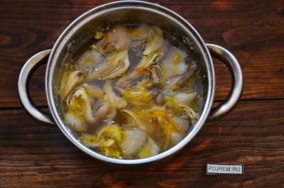 Как приготовить суп с вешенками рецепт