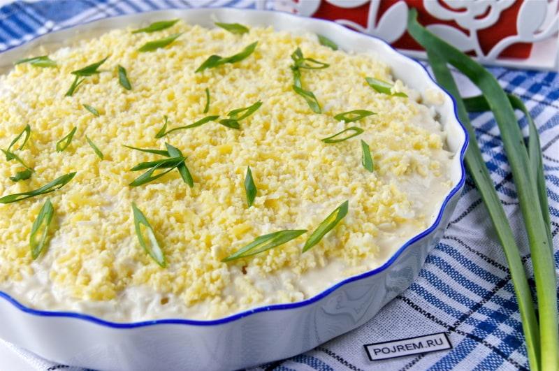 Салат мимоза рецепт с горбушей пошаговый рецепт