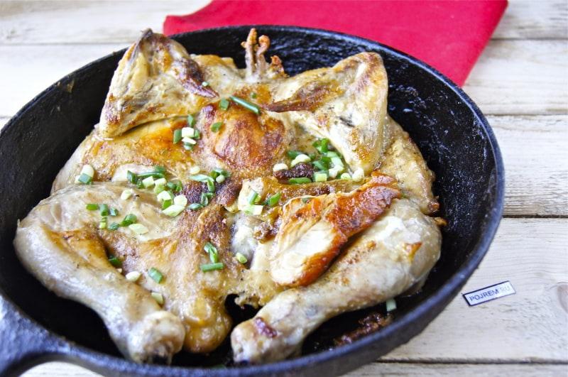 Цыплёнок табака в рукаве в духовке
