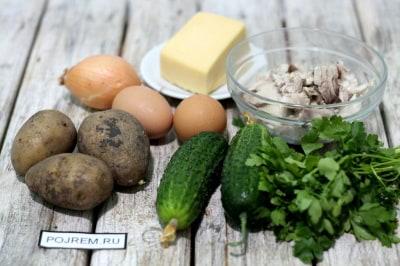 Салат гнездо глухаря фото рецепт рецепт