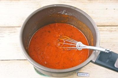 как сделать подливку из муки и томатной пасты