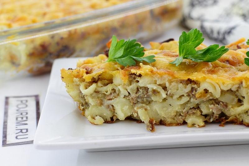 рецепты из макарон и колбасы в духовке