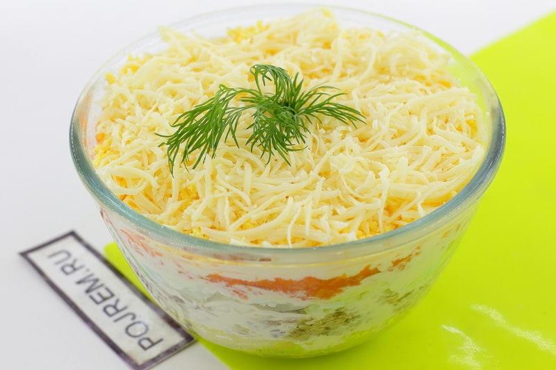 мимоза с сыром