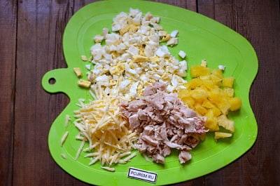 салат дамский каприз рецепт с копченой скумбрией