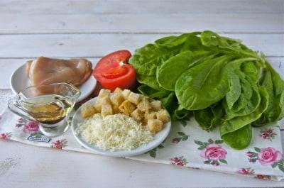 Салат Цезарь с курицей - классический простой рецепт в 80