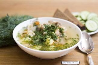 Суп с белой фасолью и мясом