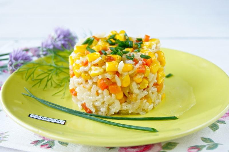 Как приготовить рис с кукурузой