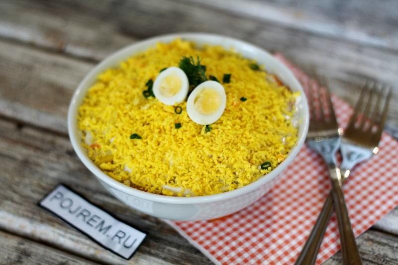 рецепт приготовить салат мимоза рецепт с фото
